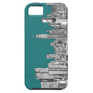 NYC en verde de la turquesa iPhone 5 Case-Mate Protector