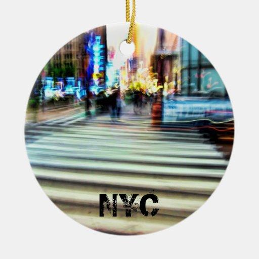 NYC Energy Abstract Christmas Tree Ornament