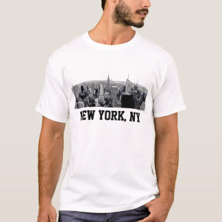 NYC Etched Look Fisheye Skyline T-Shirt