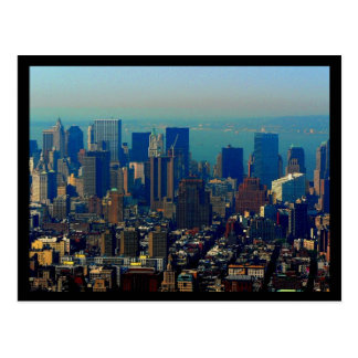 NYC Financial District 70s Style Postcard