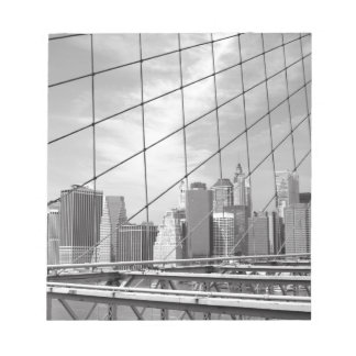 NYC Financial District Skyline Notepad