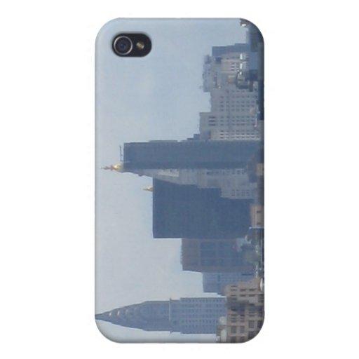 NYC foggy skyline iPhone 4 Cases
