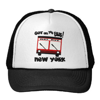 NYC, Get On The Bus With Red Hybrid Bus Mesh Hats