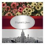 NYC grabó al agua fuerte el boda de las flores 2 d Comunicados Personalizados