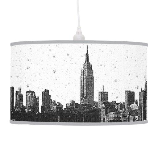 NYC grabó al agua fuerte la lámpara pendiente del