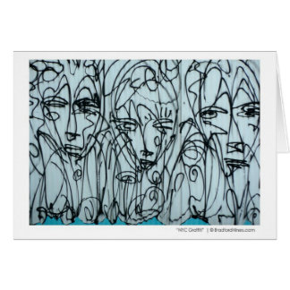 """NYC Graffiti Note Card""  by Brad Hines Card"