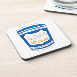 NYC Greek Diner Coffee Happy to Serve You Coasters