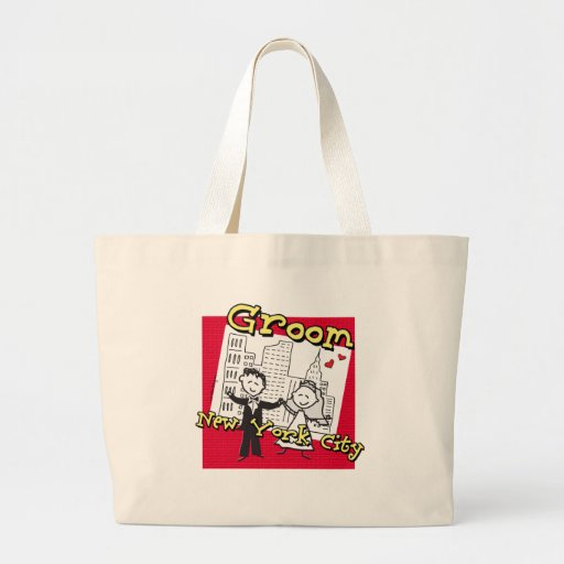 NYC Groom Jumbo Tote Bag