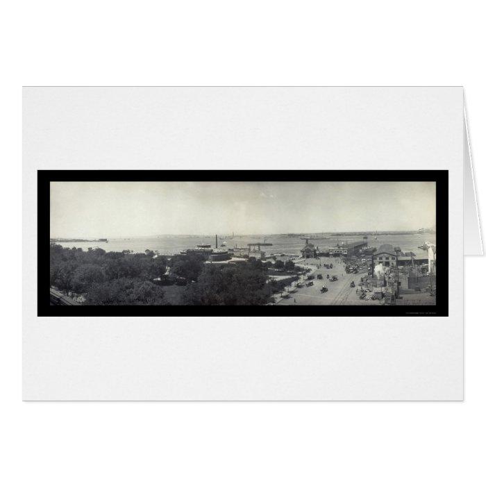 NYC Harbor Battery Photo 1902 Card