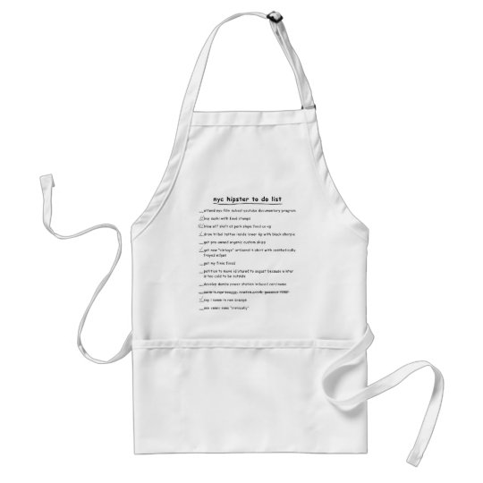 NYC Hipster To Do List Apron