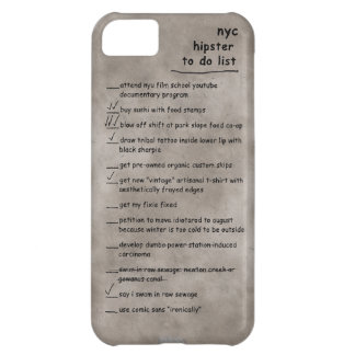 NYC Hipster To Do List iPhone Case