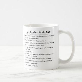 NYC Hipster To Do List Mug