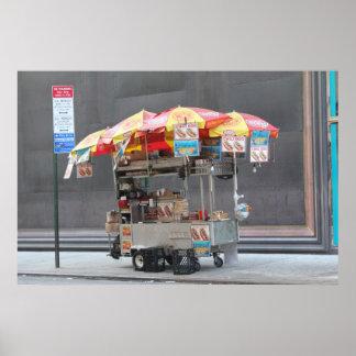 NYC Hotdog Cart Poster