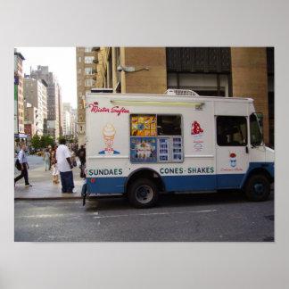 NYC Ice Cream Truck Poster