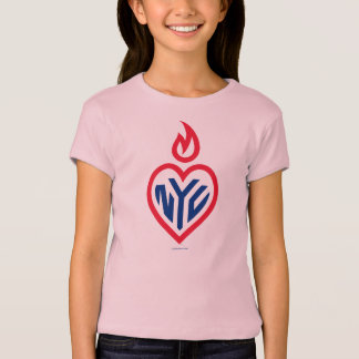 NYC Imported Girls Baby Doll Fitted - Gotham Heart T-Shirt