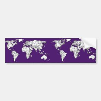 NYC in dark purple Bumper Sticker