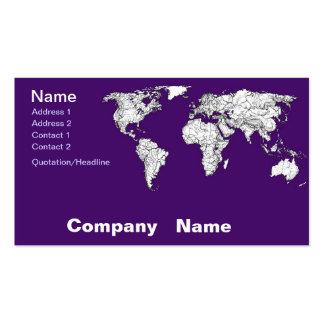 NYC in dark purple Business Card