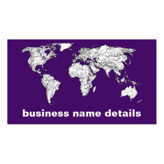 NYC in dark purple Business Card Templates