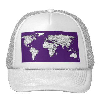 NYC in dark purple Trucker Hat
