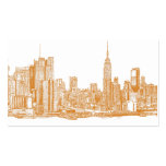 NYC in orange Double-Sided Standard Business Cards (Pack Of 100)