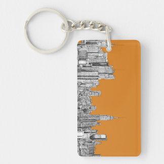 NYC In orange Keychain