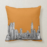 NYC In orange Pillow