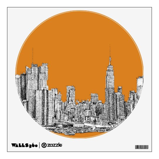 NYC In orange Wall Decal