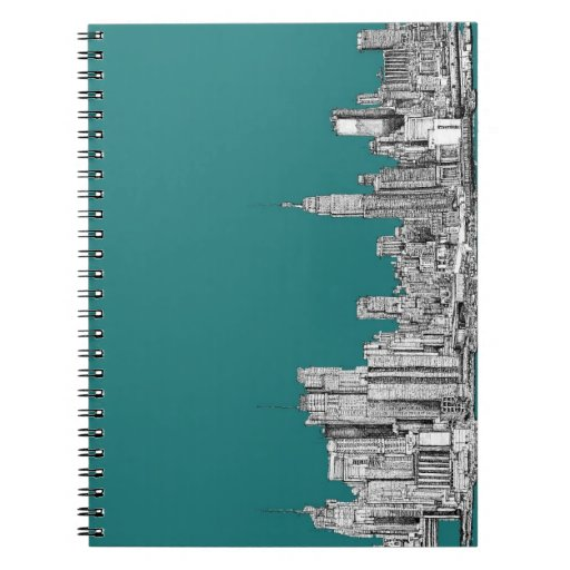 NYC in turquoise green Note Books