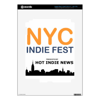NYC INDIE FEST SWAG DECAL FOR iPad 3