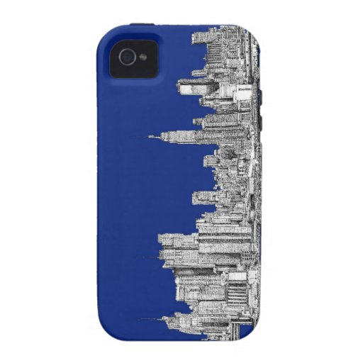 NYC ink royal blue Case-Mate iPhone 4 Cover