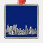 NYC ink royal blue Christmas Tree Ornament