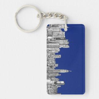 NYC ink royal blue Keychain