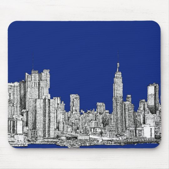 NYC ink royal blue Mouse Pad