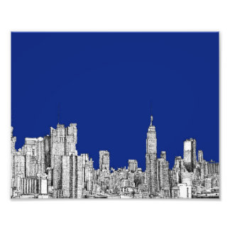 NYC ink royal blue Photo Art