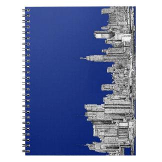 NYC ink royal blue Spiral Notebook