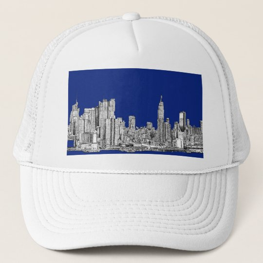 NYC ink royal blue Trucker Hat