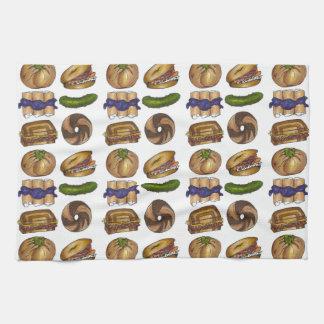 NYC Jewish Deli Food Pickle Blintz Bagel Knish Lox Kitchen Towel