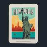 "NYC - Lady Liberty Magnet<br><div class=""desc"">Anderson Design Group is an award-winning illustration and design firm in Nashville,  Tennessee. Founder Joel Anderson directs a team of talented artists to create original poster art that looks like classic vintage advertising prints from the 1920s to the 1960s.</div>"