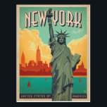 "NYC - Lady Liberty Postcard<br><div class=""desc"">Anderson Design Group is an award-winning illustration and design firm in Nashville,  Tennessee. Founder Joel Anderson directs a team of talented artists to create original poster art that looks like classic vintage advertising prints from the 1920s to the 1960s.</div>"