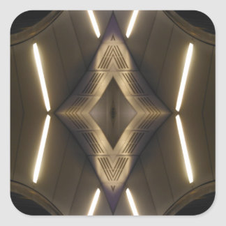 NYC Landmarks Futuristic Unusual Urban Elegance Square Sticker