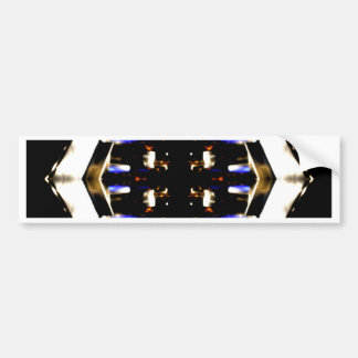 NYC Landmarks Purple Light Groove Futurism Bumper Sticker