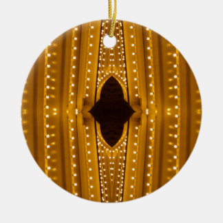NYC Landmarks Theater Marquis Lights Broadway 2 Ceramic Ornament