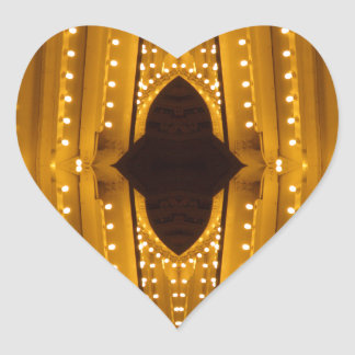 NYC Landmarks Theater Marquis Lights Broadway Heart Sticker