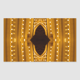 NYC Landmarks Theater Marquis Lights Broadway Rectangular Sticker