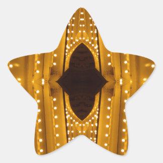 NYC Landmarks Theater Marquis Lights Broadway Star Sticker