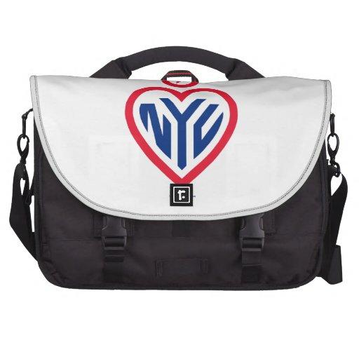"NYC Laptop Bag - Gotham Heart - ""The NYC Heart"""