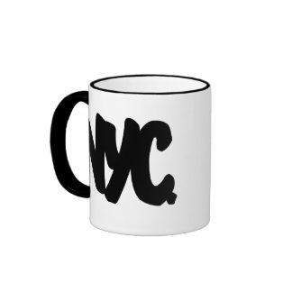 NYC Letters Ringer Coffee Mug