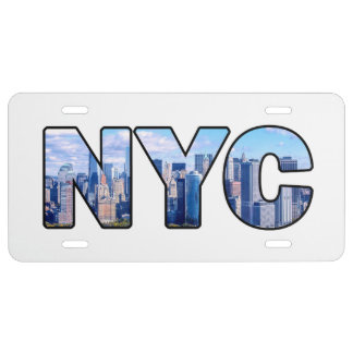 NYC LICENSE PLATE