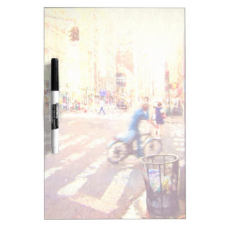 NYC Life Painting Dry-Erase Board