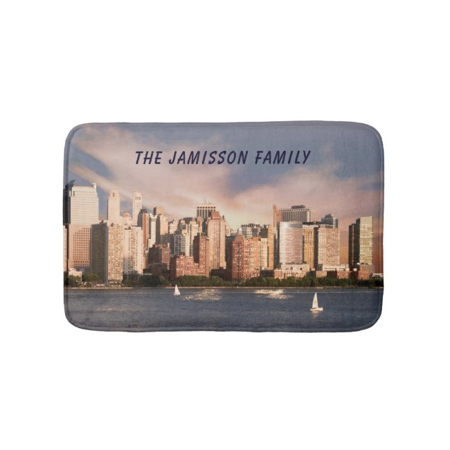 NYC Lower Manhattan Skyline with Personalized Name